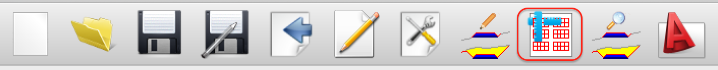 XSection Plot tool bar