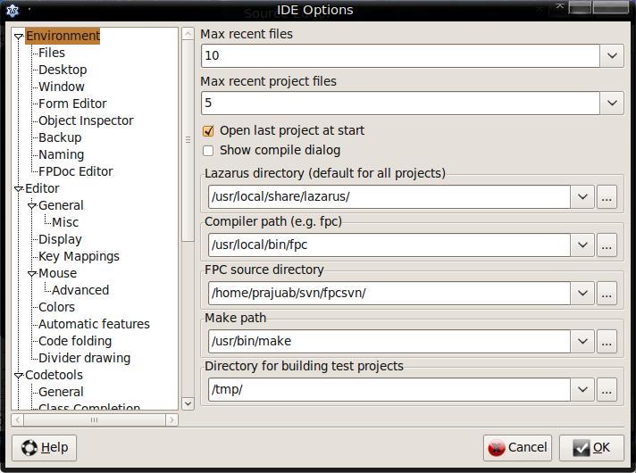 IDE options
