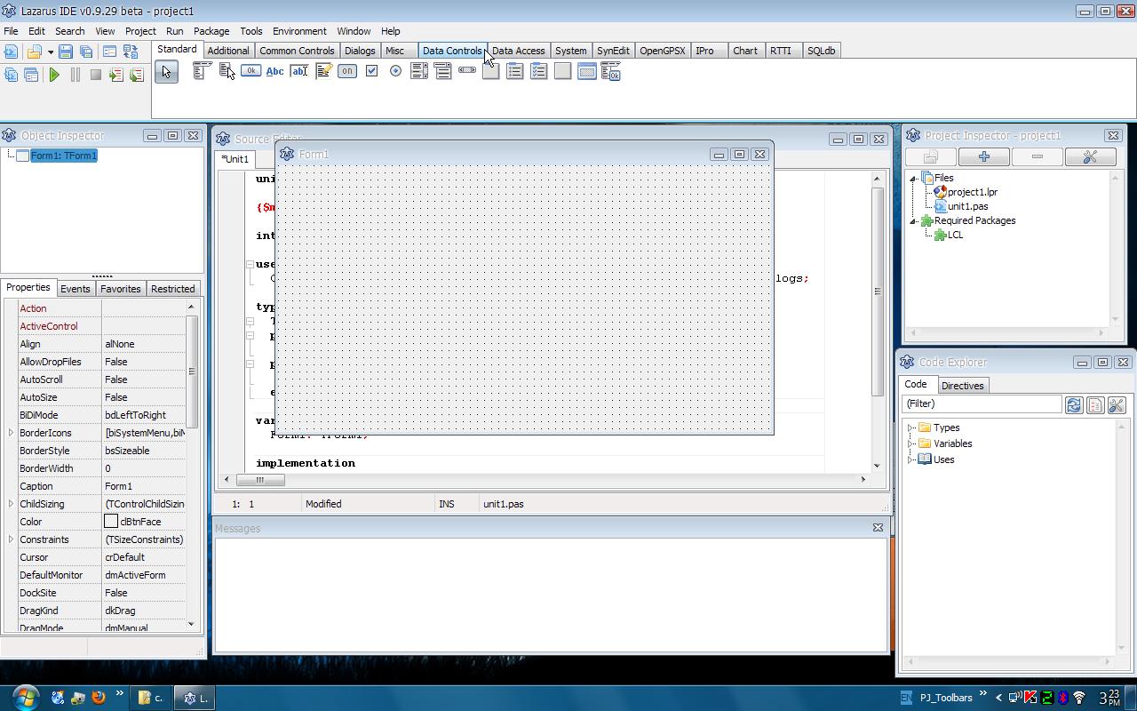 Lazarus 0.9.29 (beta) บน windows