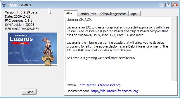 Lazarus บน Windows ติดตั้งด้วย subversion