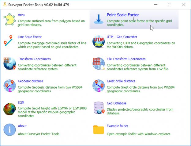 Surveyor Pocket Tools – Update เพิ่มโปรแกรมคำนวณสเกลแฟคเตอร์ (Point Scale Factor) – ตอนที่ 2 (ตอนจบ)