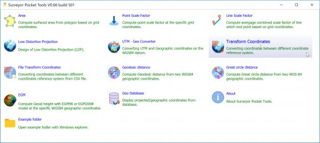 Surveyor Pocket Tools – ทดสอบโปรแกรมการแปลงพิกัดบน State Plane Coordinate System (SPC)