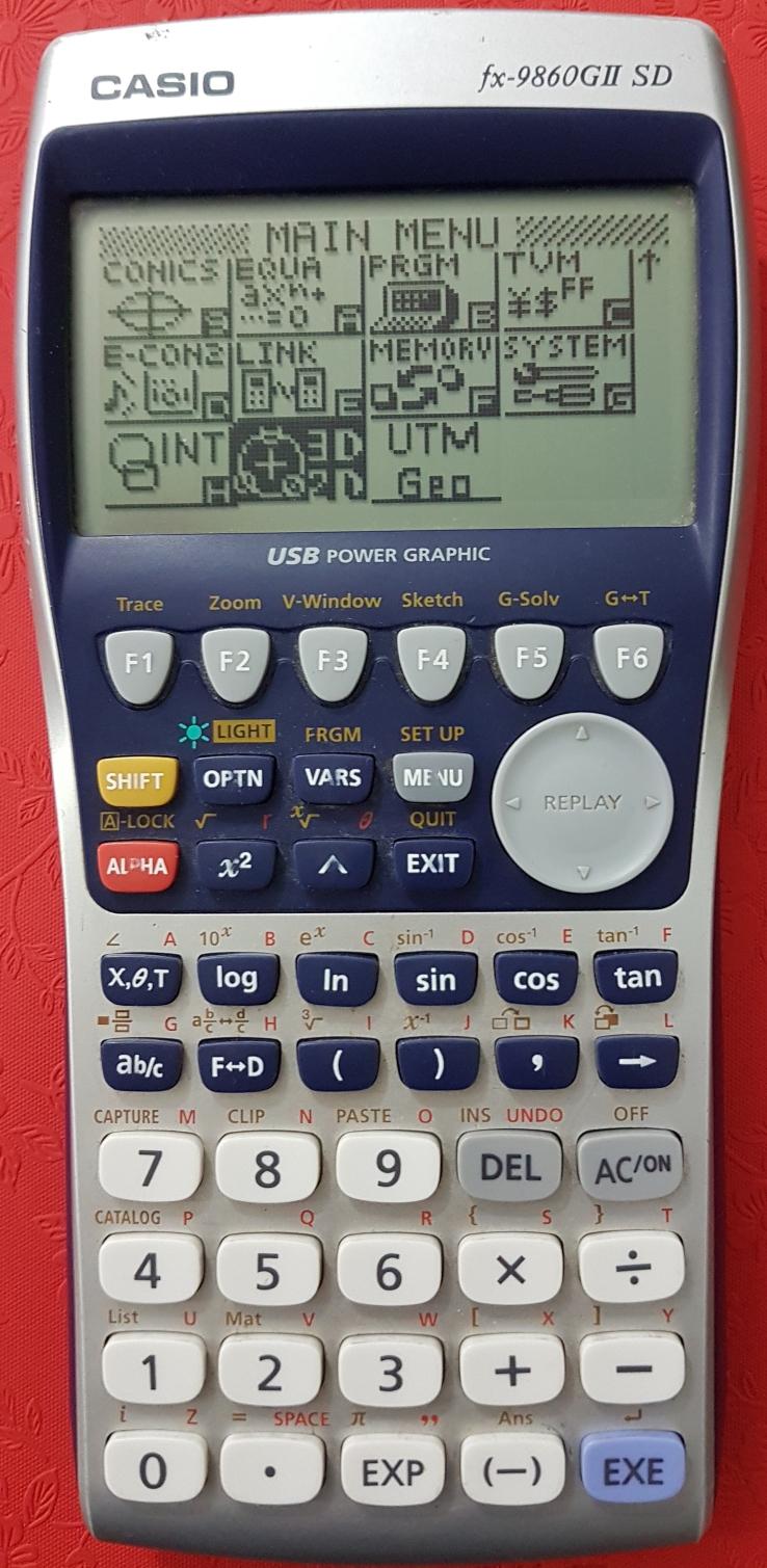 โปรแกรมงานสำรวจสำหรับเครื่องคิดเลข Casio fx-9860G II SD