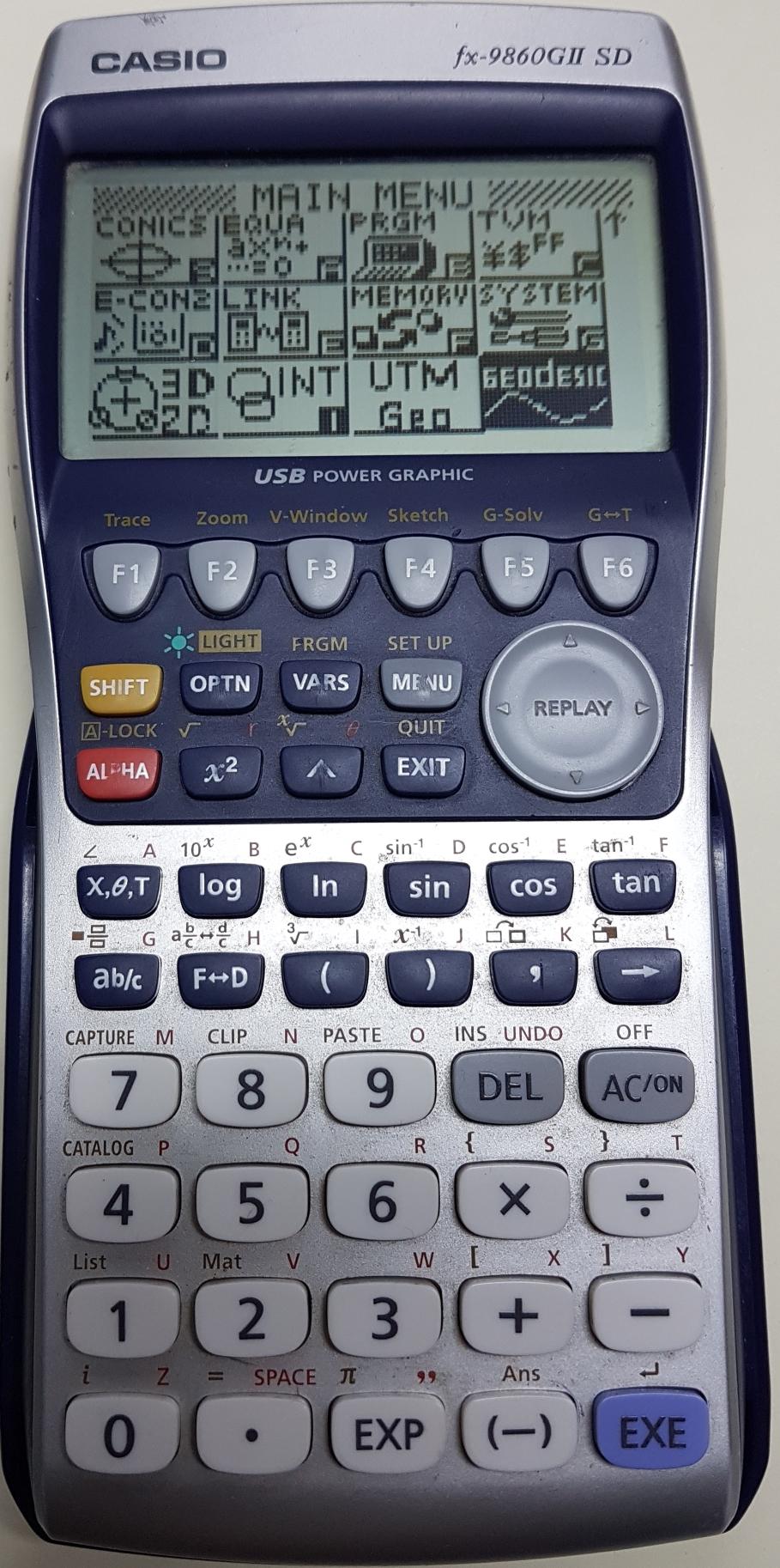 ติดปีกเครื่องคิดเลขเทพ Casio fx 9860G II SD ด้วยโปรแกรมภาษาซีบน AddIn ตอนที่ 3 โปรแกรมคำนวณหาระยะทางจากค่าพิกัดภูมิศาสตร์ (Geodetic Dist Calc)