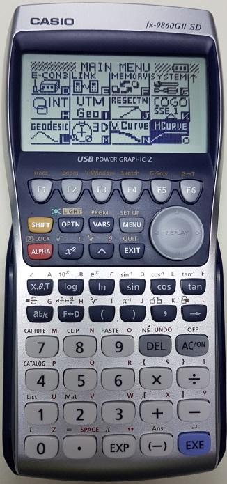 ติดปีกเครื่องคิดเลขเทพ Casio fx 9860G II SD ด้วยโปรแกรมภาษาซีบน AddIn ตอนที่ 7 โปรแกรมคำนวณโค้งราบ (Horizontal Curve)