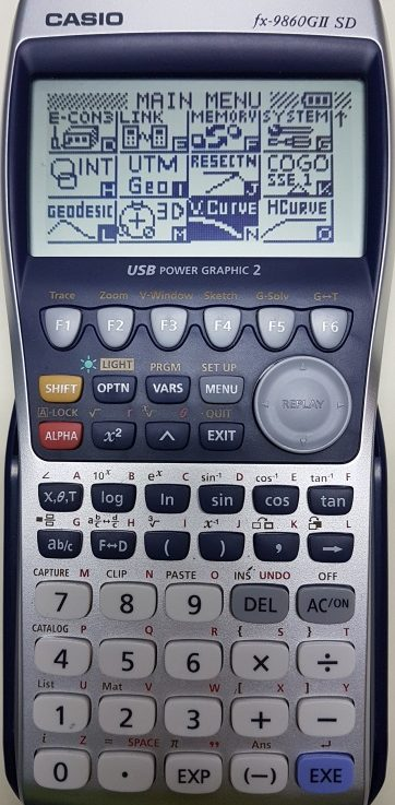 ติดปีกเครื่องคิดเลขเทพ Casio fx 9860G II SD ด้วยโปรแกรมภาษาซีบน AddIn ตอนที่ 6 โปรแกรมคำนวณโค้งดิ่ง (Vertical Curve)