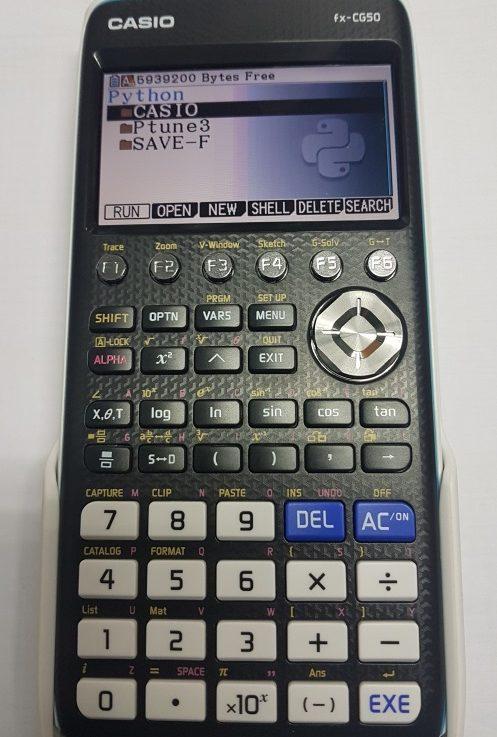 ทดสอบเขียนโปรแกรมไพทอน (Python)  บนเครื่องคิดเลข Casio fx-cg50 Prizm