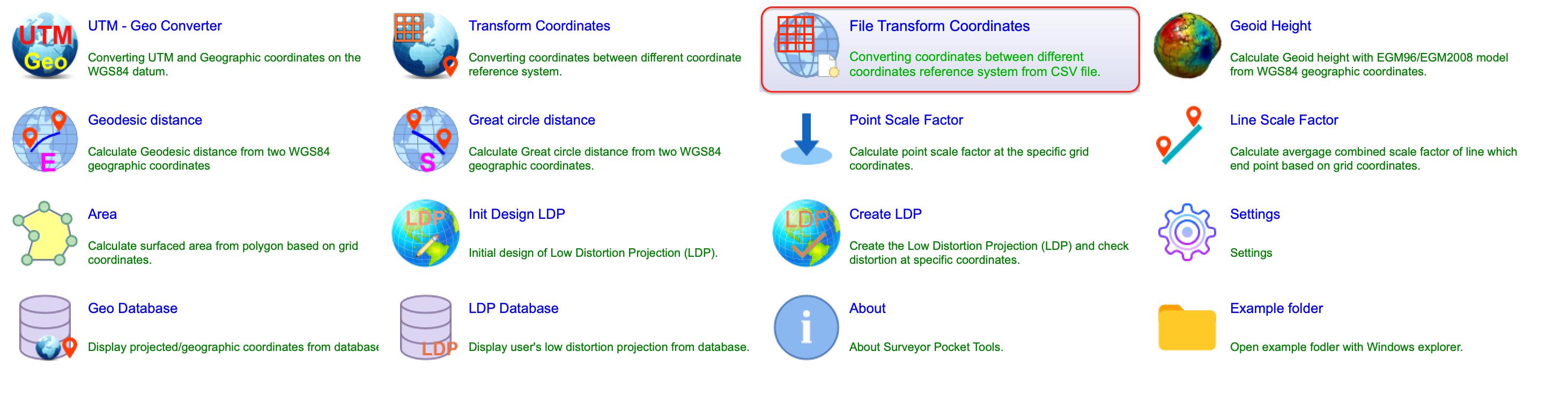 File Transform Coordinate